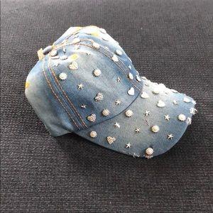 Embellished ladies denim ball cap
